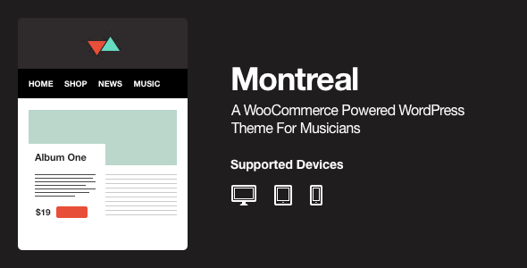 ThemeForest Montreal WooCommerce Powered Music Theme 4265816