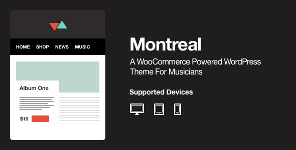 ThemeForest Montreal WooCommerce Powered Music Theme 4265816