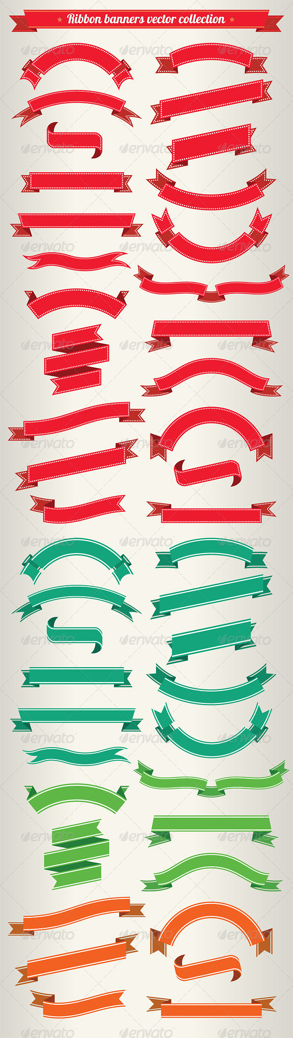 GraphicRiver Ribbon Banners Vector Collection 4266253