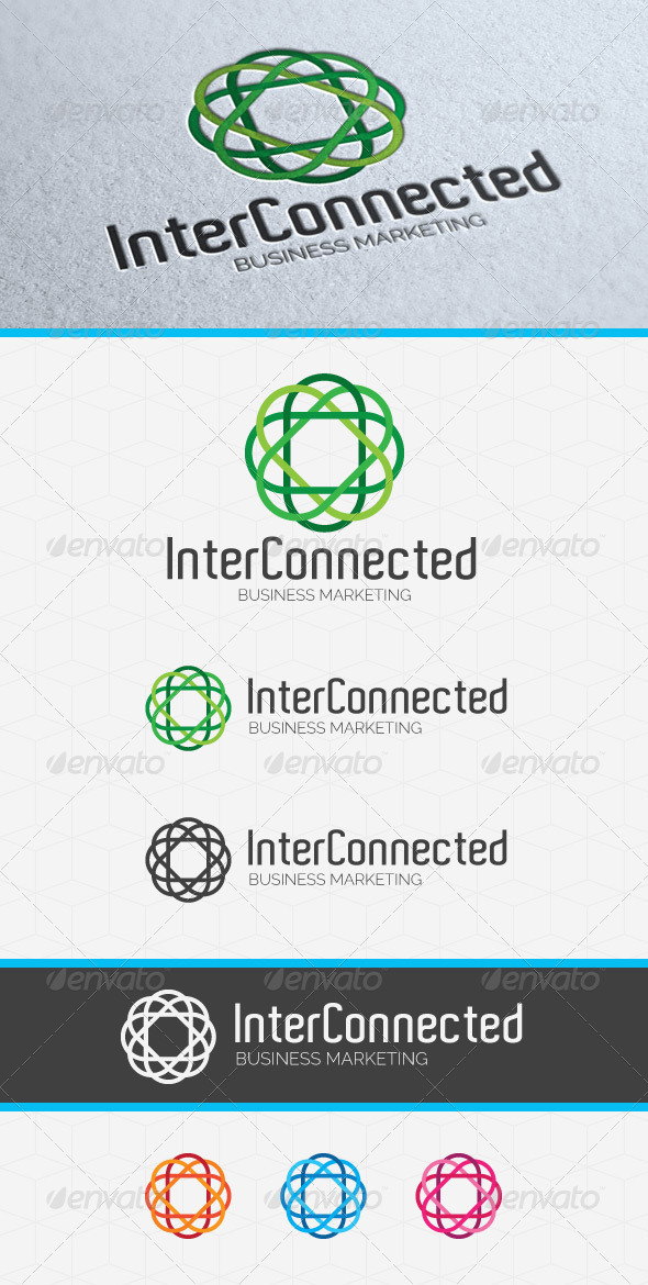 GraphicRiver Inter Connected Logo Template 3746469