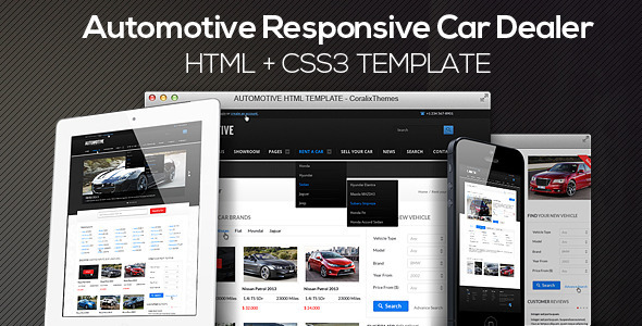 Automotive Cars Dealer Responsive HTML5/CSS3 - Business Corporate
