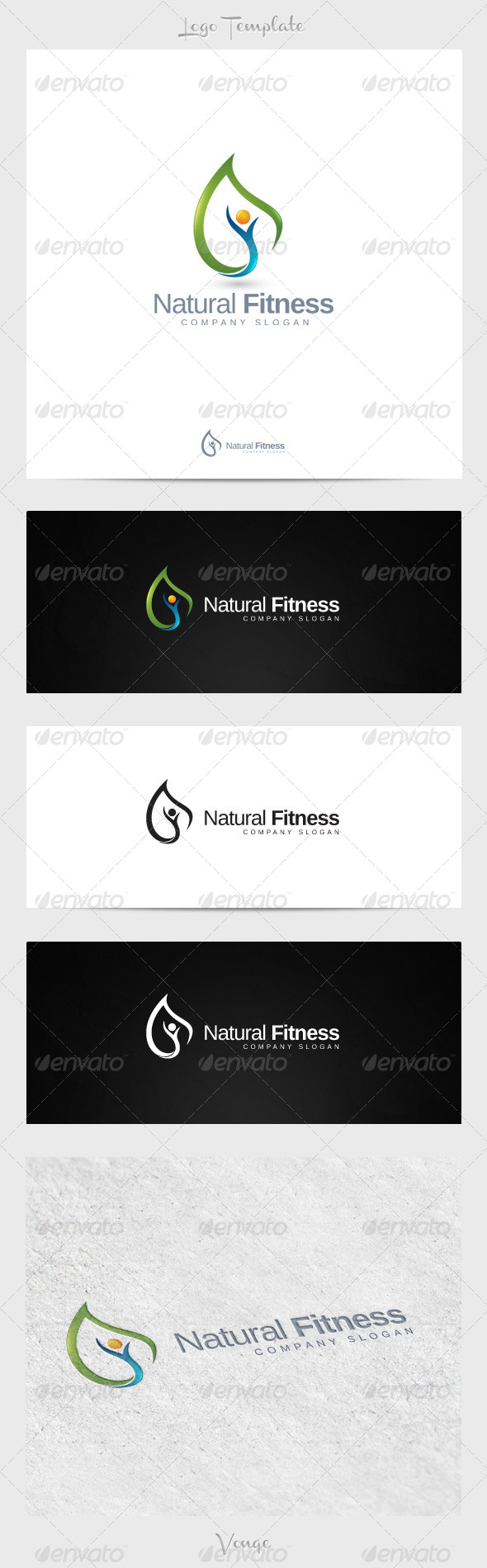 Natural Fitness - Nature Logo Templates