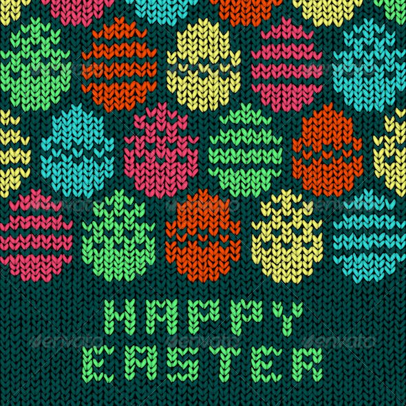 GraphicRiver Easter Egg Sweater 4267157
