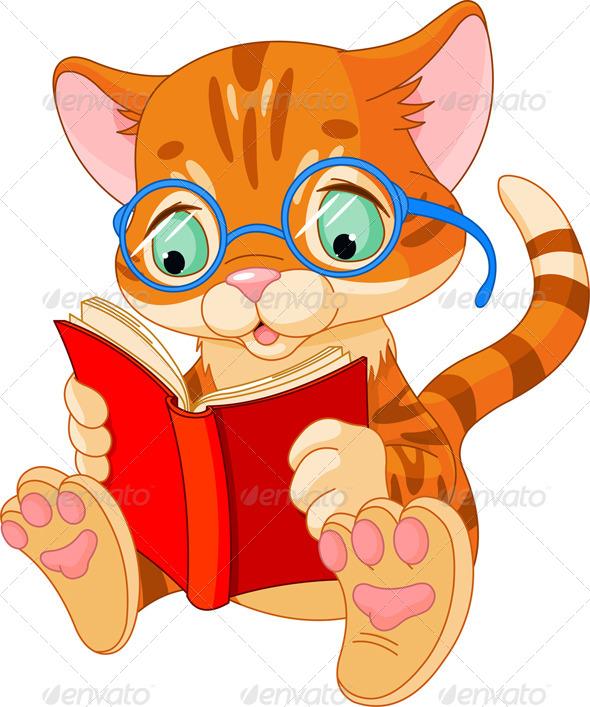 GraphicRiver Cute Kitten Education 4267263