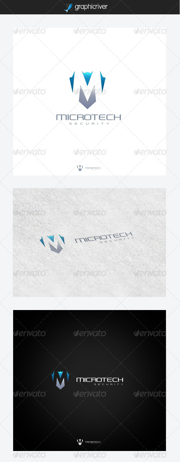 Microtech Security - Letters Logo Templates