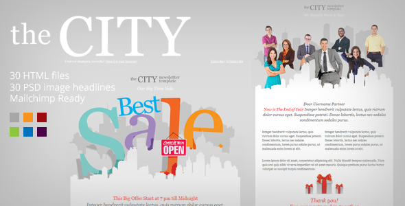 ThemeForest The City Metro Business Email template 4147829