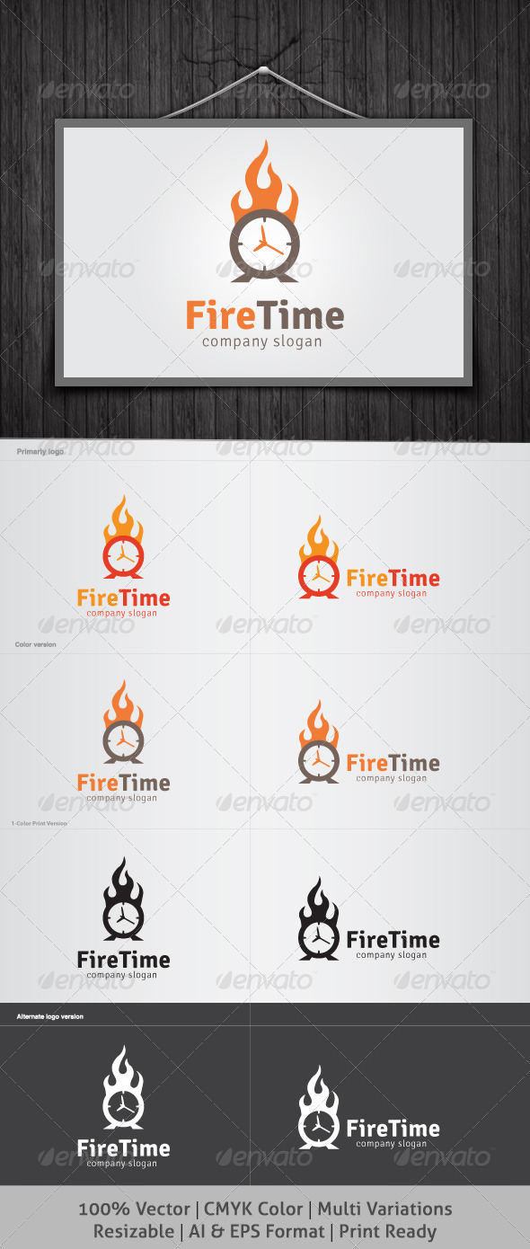 GraphicRiver Fire Time Logo 4169628