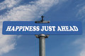 Happiness just ahead road sign - PhotoDune Item for Sale