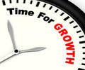 Time For Growth Message Showing Increasing Or Rising - PhotoDune Item for Sale