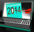 Calendar 2014 On Laptop Showing Future Plans - PhotoDune Item for Sale
