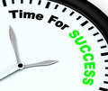 Time For Success Message Showing Victory And Winning - PhotoDune Item for Sale