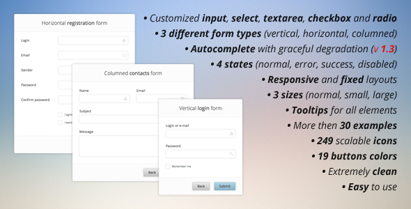 Pure CSS3 Forms Set - CodeCanyon Item for Sale