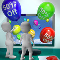 Balloons From Computer Showing Sale Discount Of Forty Percent - PhotoDune Item for Sale