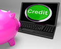 Credit Button On Laptop Shows Financial Loan - PhotoDune Item for Sale