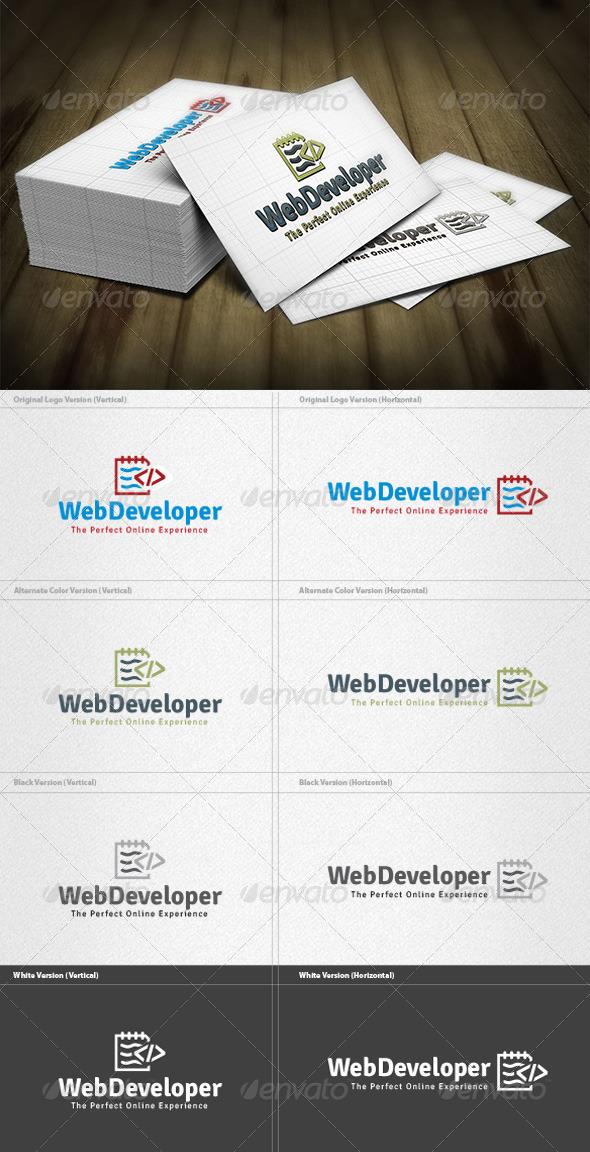 GraphicRiver Web Developer Logo 4268769