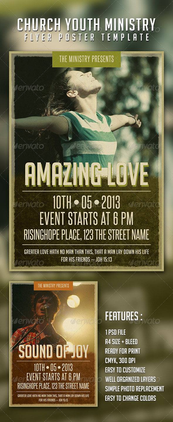 GraphicRiver Church Youth Ministry Flyer Template 4071631