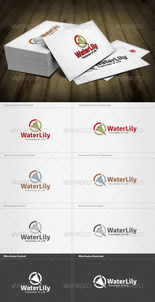 GraphicRiver Water Lily Logo 4268777