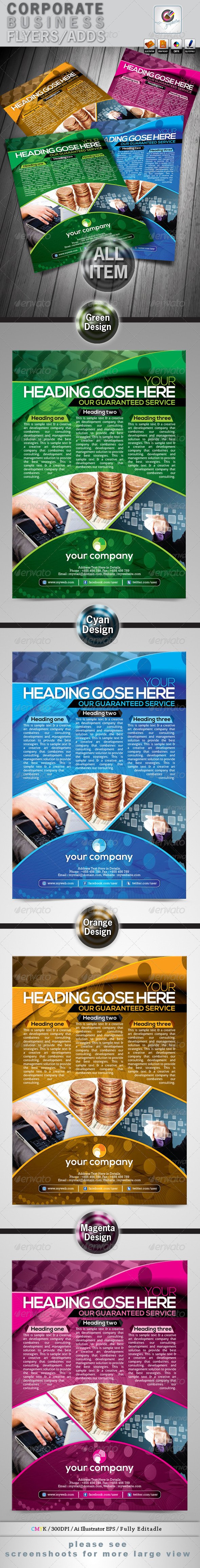 GraphicRiver Corporate Business Flyers Adds 4268841
