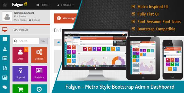 ThemeForest Falgun Metro Style Bootstrap Admin Dashboard 4257951