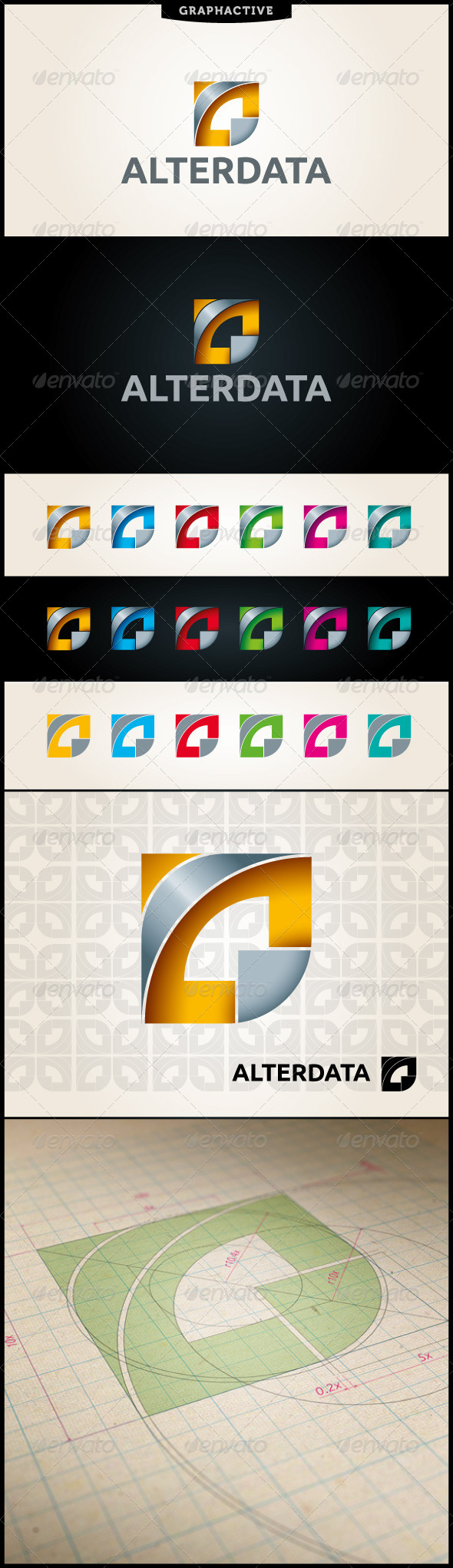 GraphicRiver Alterdata Abstract Logo Template 4173873