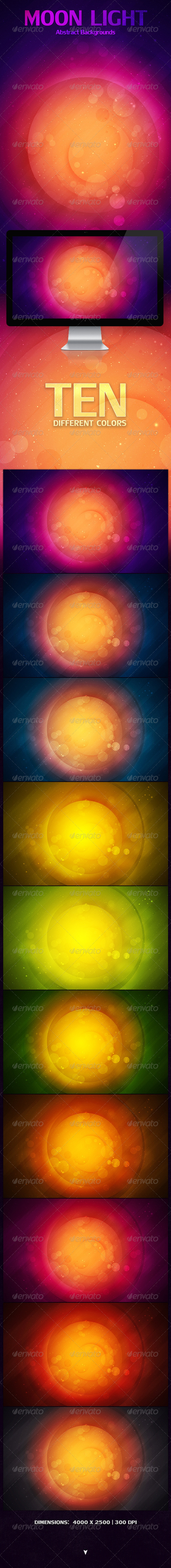 GraphicRiver Moon Light Abstract Backgrounds 4228075