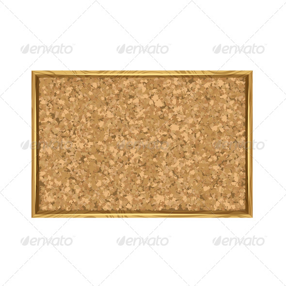 GraphicRiver Corkboard with Wooden Frame 4271486