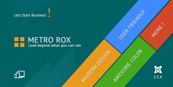 ThemeForest Metro Rox HTML5 Joomla Metro Multipurpose Template 4271514