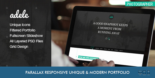 ThemeForest Adele Boostrap Responsive & Clean HTML5 Template 3871294