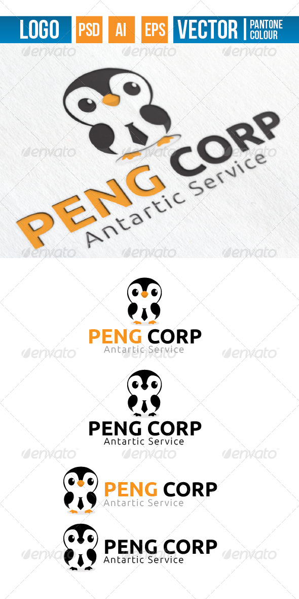 GraphicRiver Penguin Corporation Logo 4271518