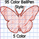 95 Color BallPen Style (5 Color) - GraphicRiver Item for Sale