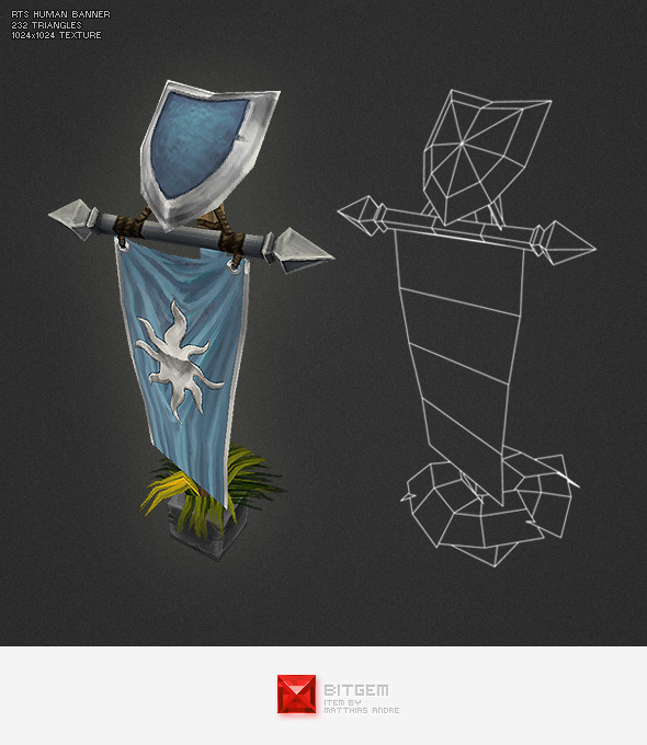 3DOcean Low Poly RTS Human Banner 4271661