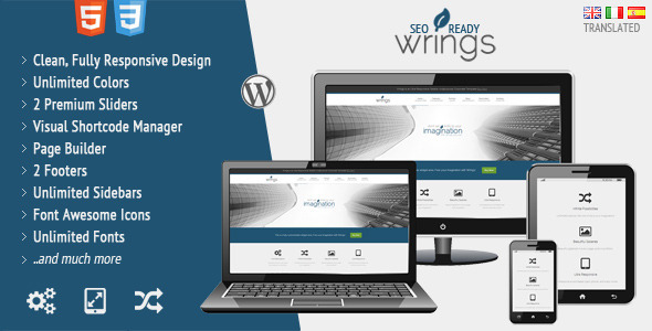 Wrings | Fully Responsive Corporate Template - Business Corporate