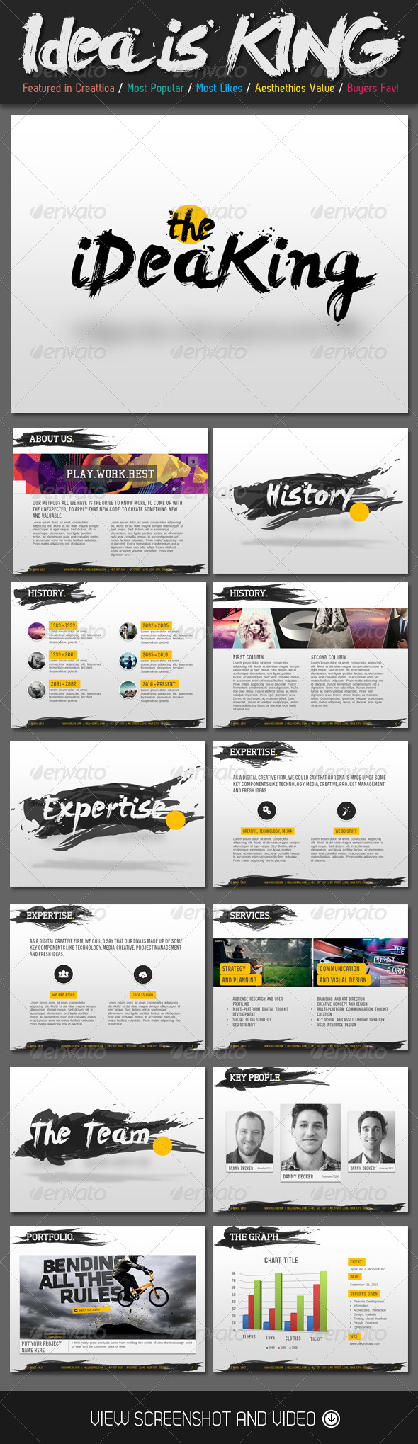 GraphicRiver Ideas is King Creative PowerPoint Template 4271784
