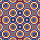 Colorful symmetrical abstract circle shapes pattern. - PhotoDune Item for Sale