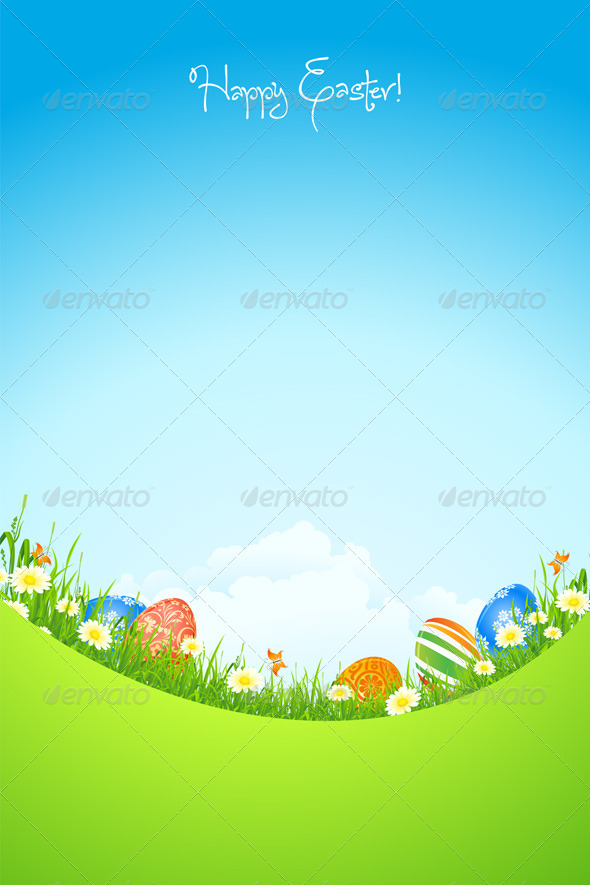 GraphicRiver Easter Holiday Background 4272114