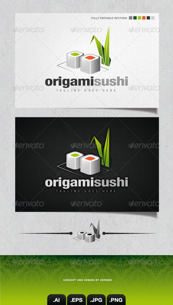 Origami Sushi V.02 Logo  - Food Logo Templates