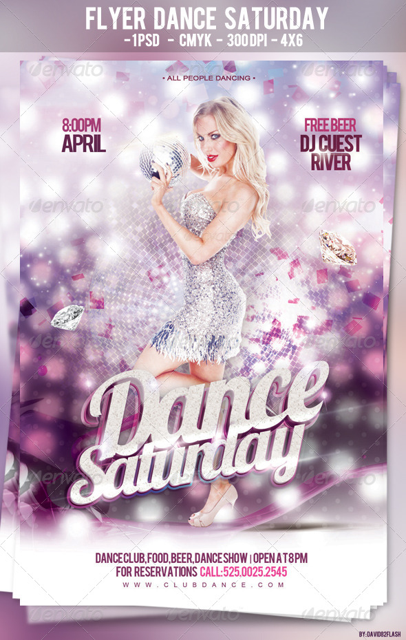 GraphicRiver Flyer Dance Saturday PSD 4272214