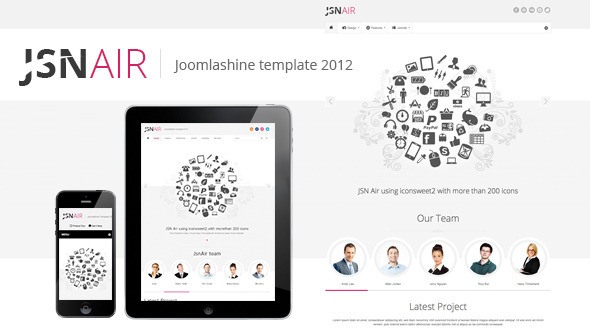 ThemeForest JSN Air Responsive Business Portfolio Template 4272253