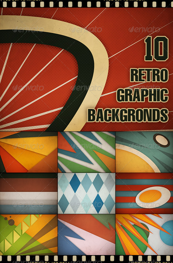 GraphicRiver 10 Retro Graphic Backgrounds II 461801
