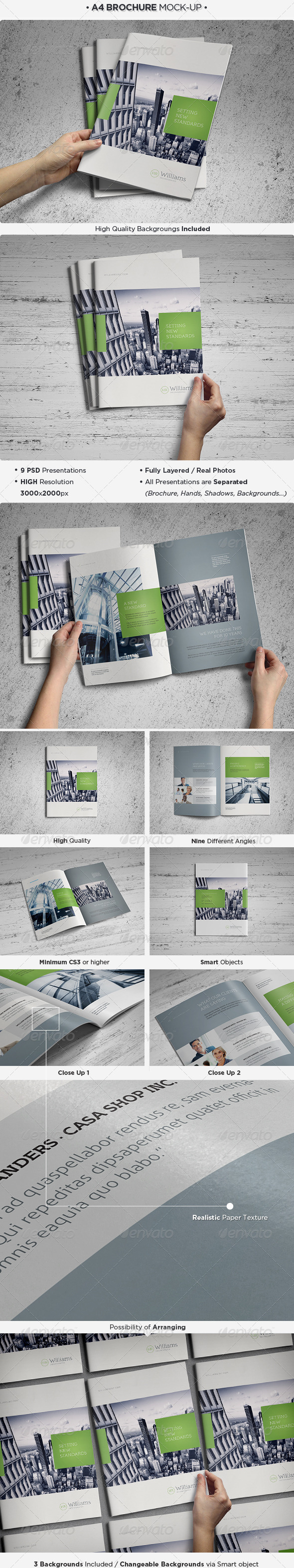 GraphicRiver A4 Brochure Catalog Mock-Up 4236480