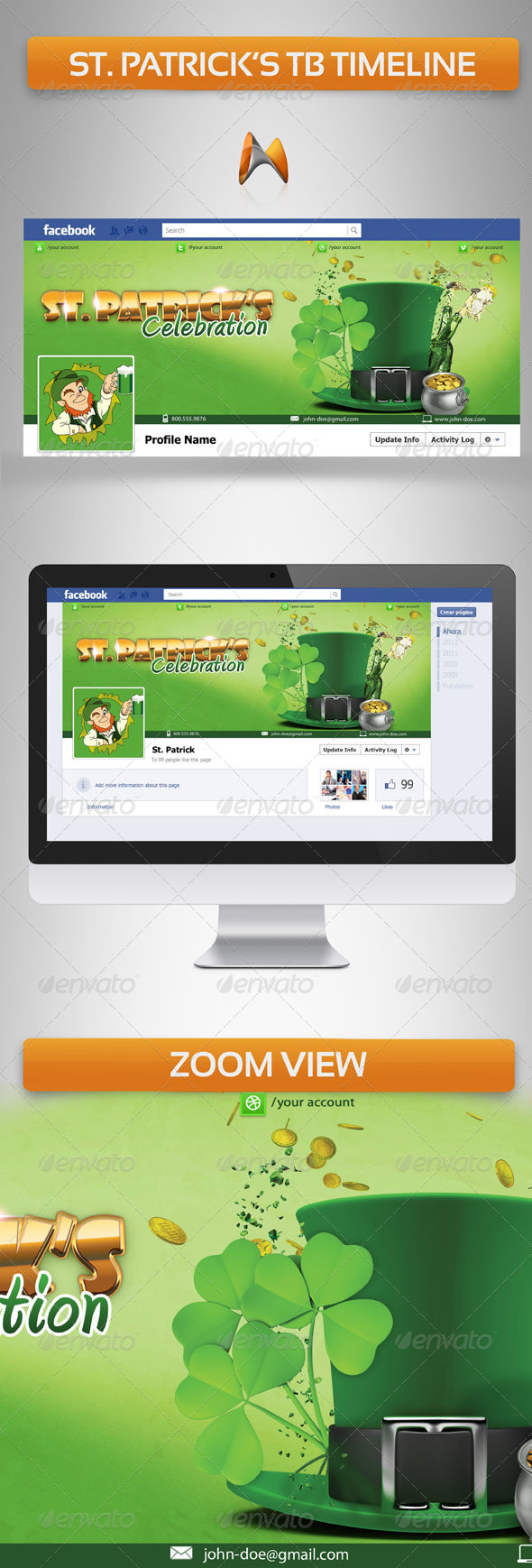 GraphicRiver St Patrick FB Timeline Cover 4120202