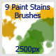 9 Paint Stains Brushes (2500px) - GraphicRiver Item for Sale