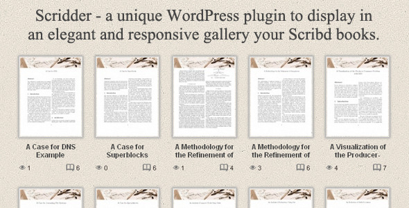CodeCanyon Scridder Responsive Books Gallery 4272436