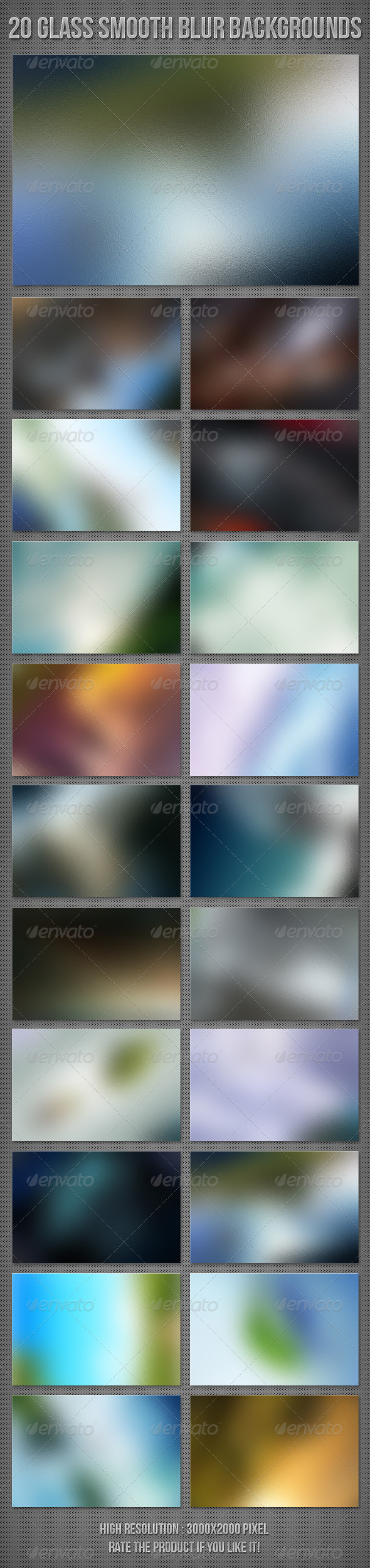 20 Glass Blur Backgrounds - Abstract Backgrounds