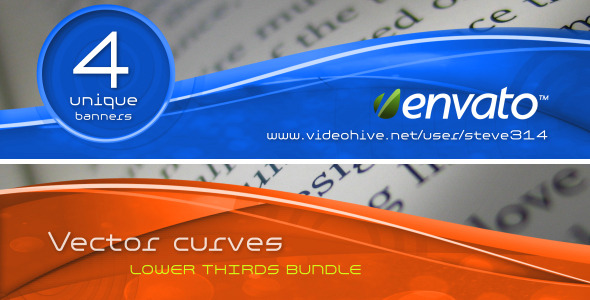 VideoHive Vector Curves lower thirds bundle 461864