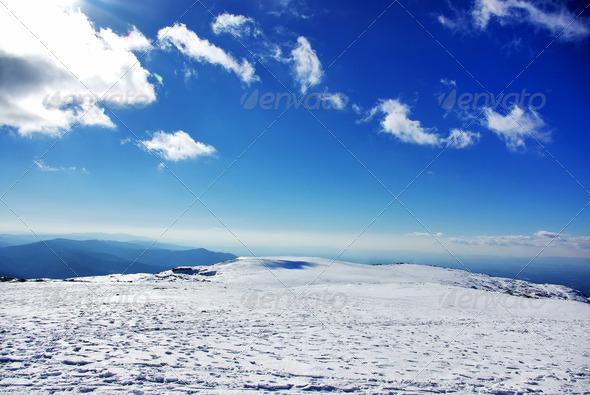 PhotoDune Landscape of Estrela mountain on Winter 4273017