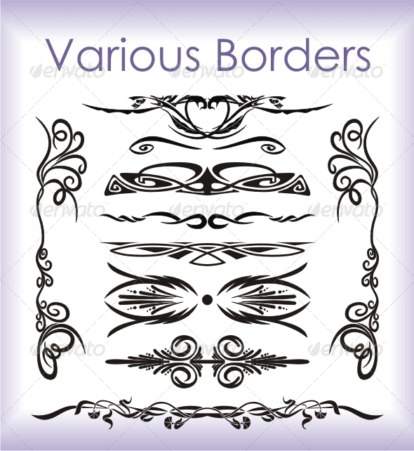GraphicRiver Various Borders 4176358