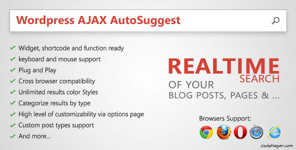 CodeCanyon WordPress Ajax AutoSuggest 4248819