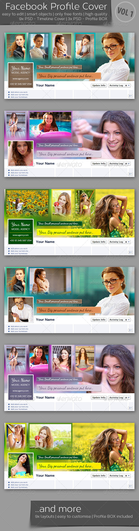 GraphicRiver FB Timeline Cover and Profile Box VOL 1 4245010