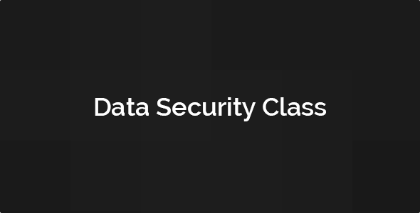 Data Security Class - CodeCanyon Item for Sale